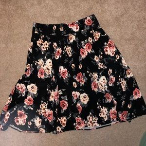 Unique vintage a line floral skirt